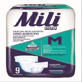Fralda de USO Adulto Mili VITA- TAM: M - 72 Fraldas