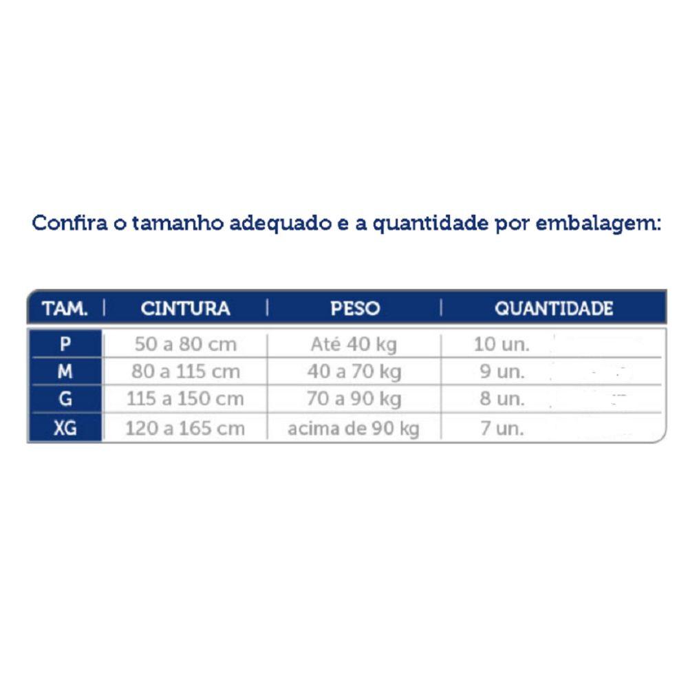 Fralda de uso Adulto Mili Vita - Tamanho M (c/9 fraldas)