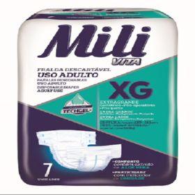 Fralda de USO Adulto Mili VITA- TAM: XG  - 56 Fraldas