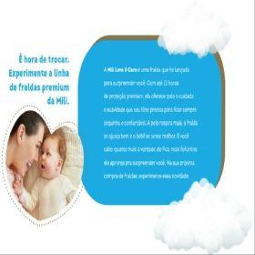 Fralda Descartável MILI- LOVE& CARE- Linha PREMIUN- TAM.G (C/24 Fraldas)