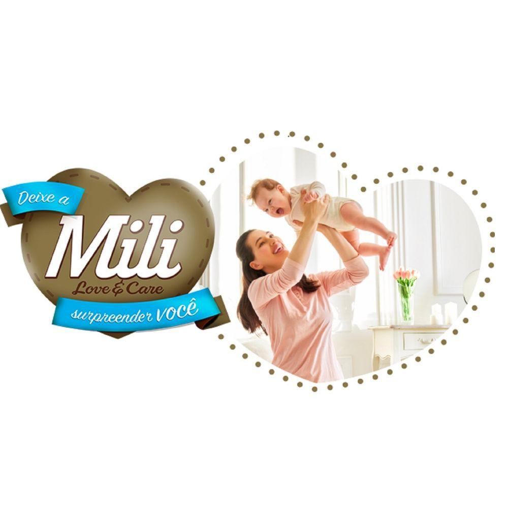 Fralda Descartável Mili - Love & Care - Linha Premiun - Tamanho P- 6 Pacotes c/28 (total 168 fraldas)