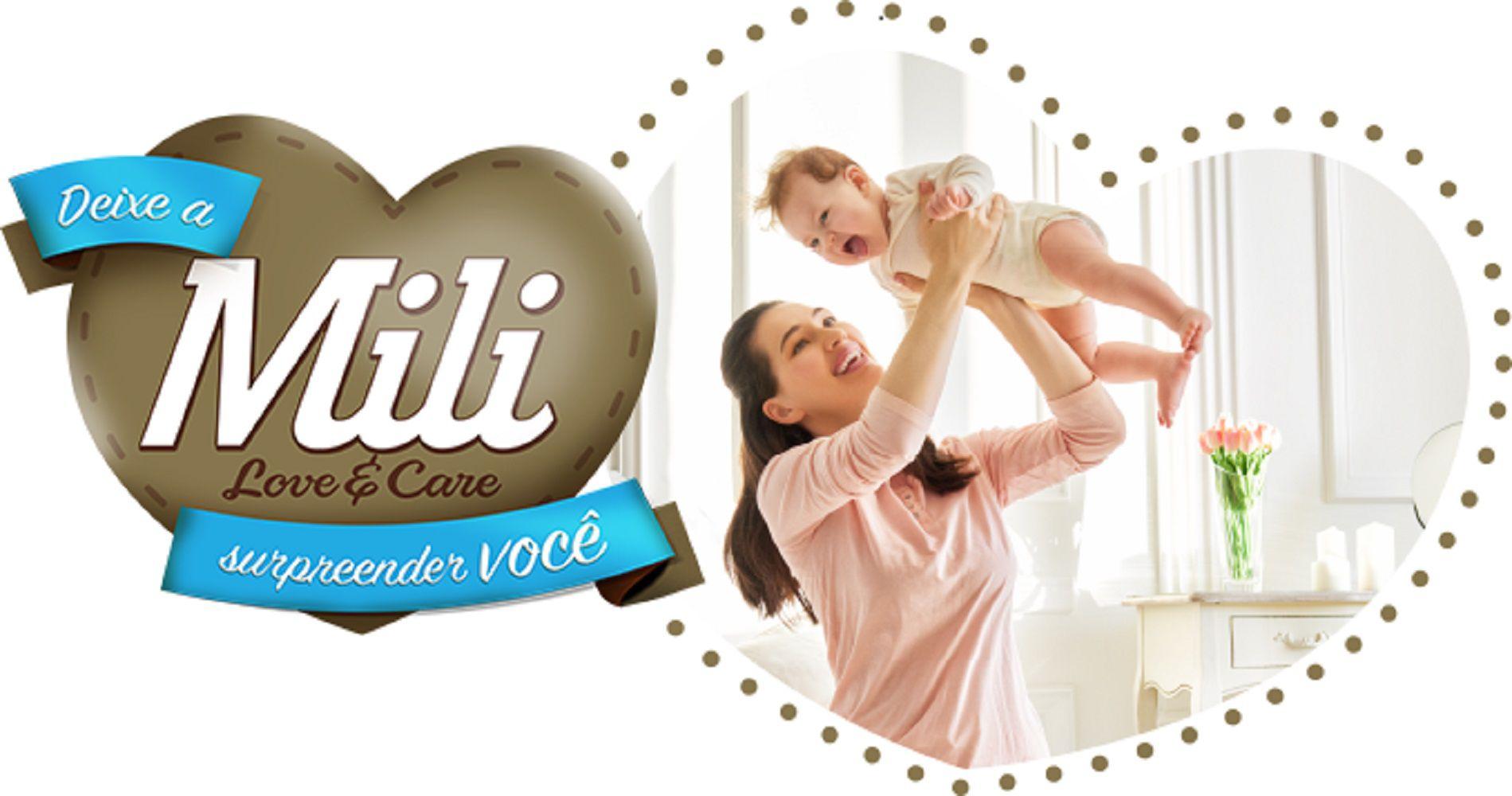 Fralda Descartável Mili RN - Love & Care - 4 Pacotes - (120 UNID)