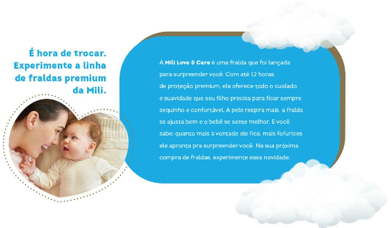 Fralda Mili LOVE&CARE RN - Pacote C/30 Fraldas