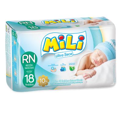 Fralda Mili ULTRA Seca RN Recen Nascido) - 162 Fraldas