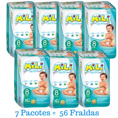 Fralda Mili Ultra Seca- Xg - 56 fraldas
