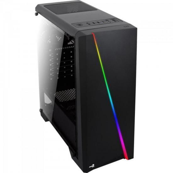 Gabinete CYLON RGB LED MID Tower ATX Preto Aerocool