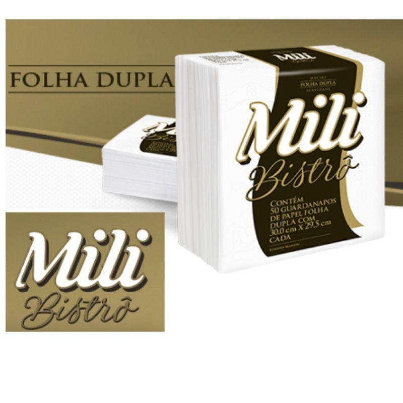 Guardanapo Mili Bistro- Folha Dupla- 30x29,5 cm- 16 pacotes com 50 unidades