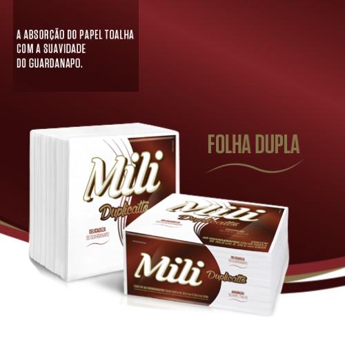 GUARDANAPO MILI DUPLICATO- FOLHA DUPLA- 30X29,5CM - 12 pacotes c/ 50 unidades