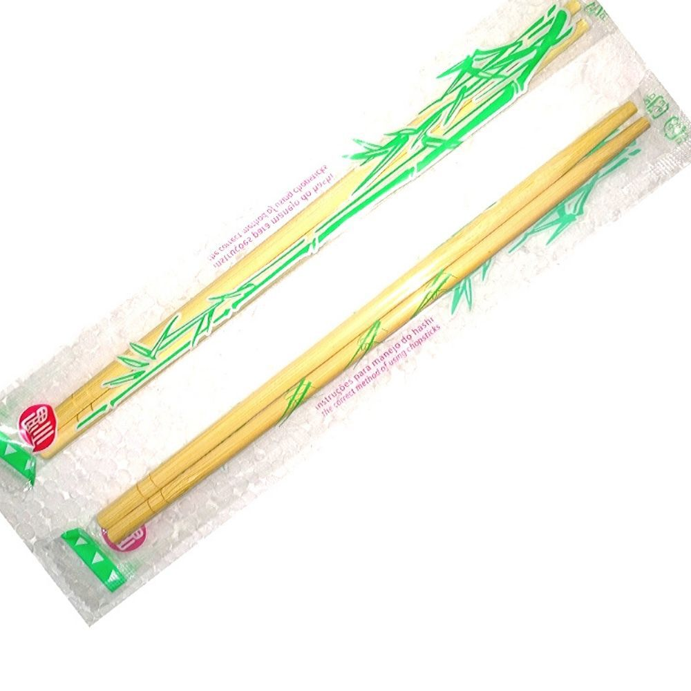 Hashi Bambu Descartável, 4 Pacotes C/100 Pares (total: 400 Pares)