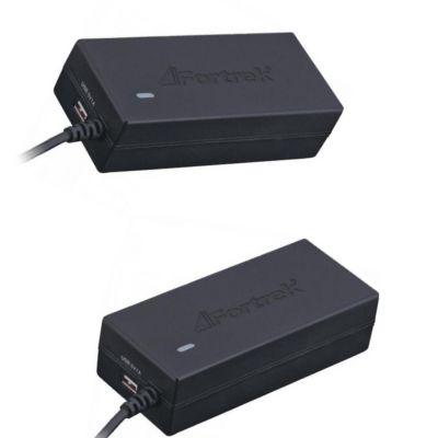 Kit: 2  Fontes para Notebook Universal 90W com 10 Pinos Bivolt Fortrek