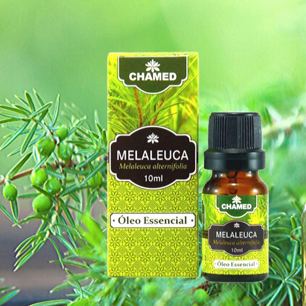 Kit Óleo Essencial de Melaleuca Tea Tree + Lavanda + Patchouli + Laranja Doce - 100% Puro - Chamed