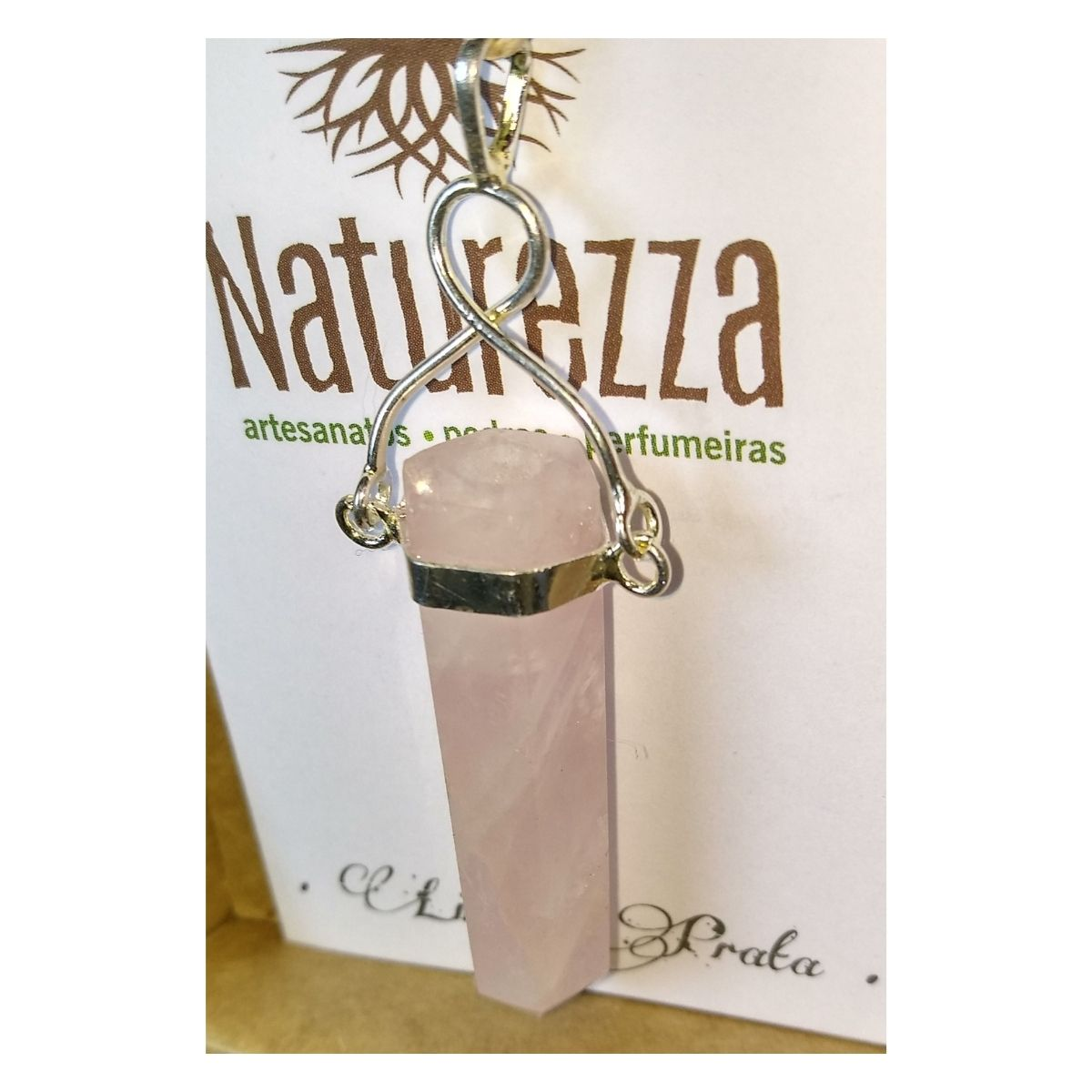 Kit Pingente de Quartzo Rosa e Ametista
