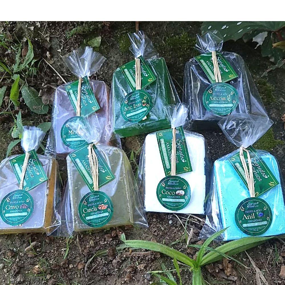 Kit  Sabonete Artesanal - Feito a mão - Sedredos da Natureza- kit c/ 8 unidades