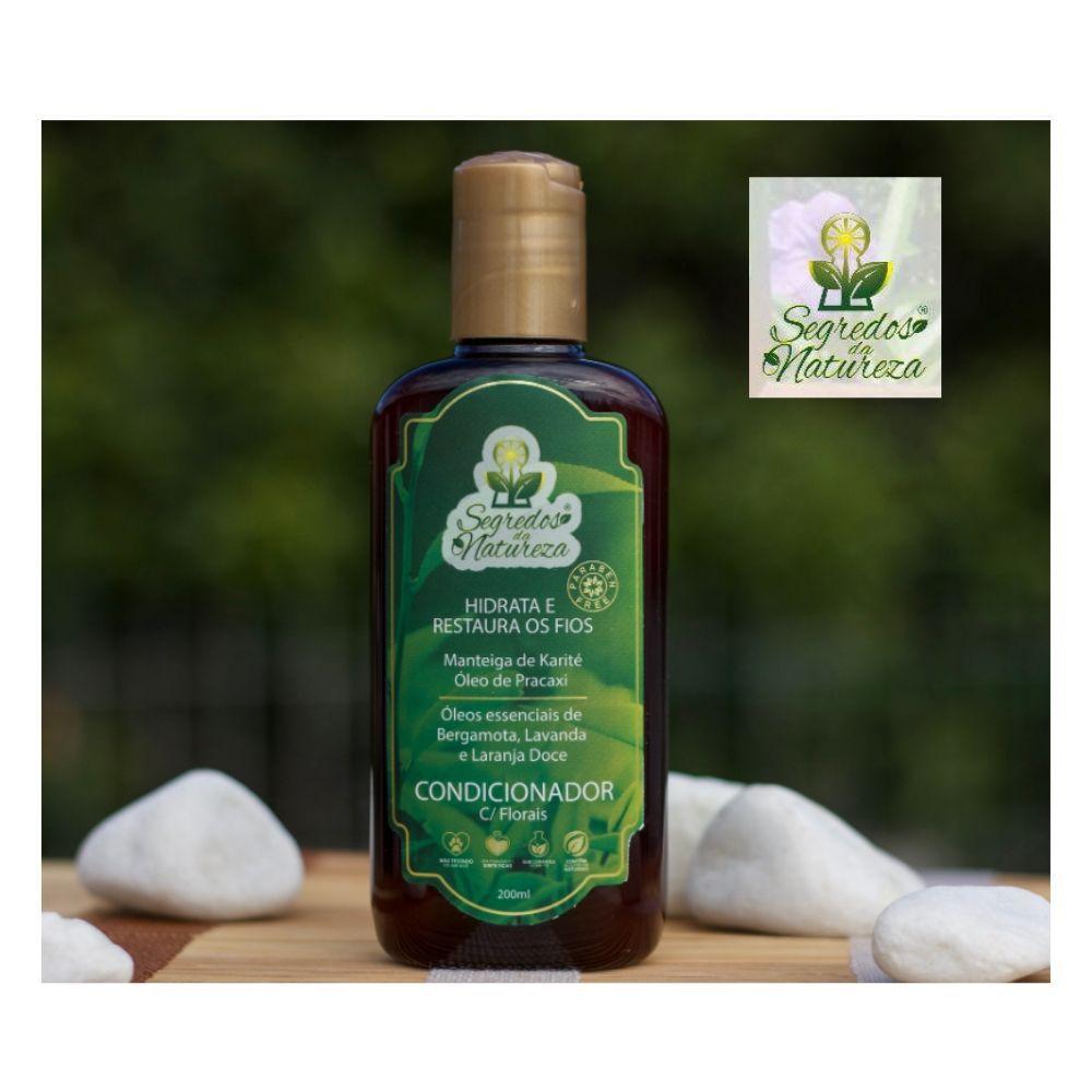 Kit Shampoo Vegano c/ Florais+ Condicionador+ Mask+ Hidratante - Segredos da Natureza