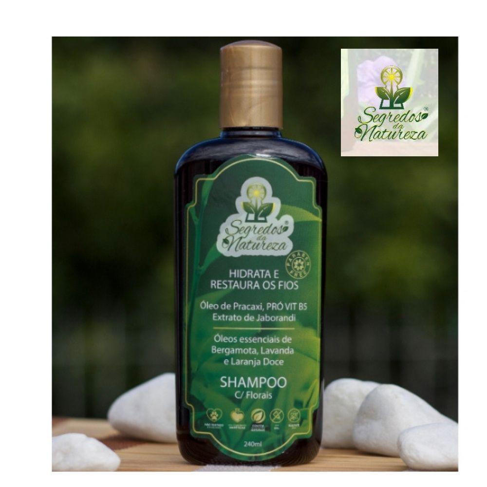 Kit Shampoo Vegano c/ Florais + Condicionador -  Segredos da Natureza