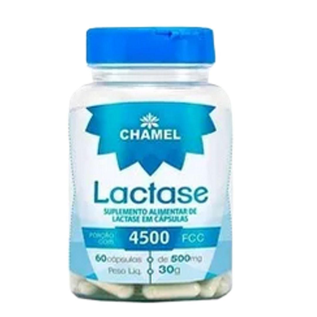 Lactase em Cápsulas - 60 cápsulas de 500mg - CHAMEL
