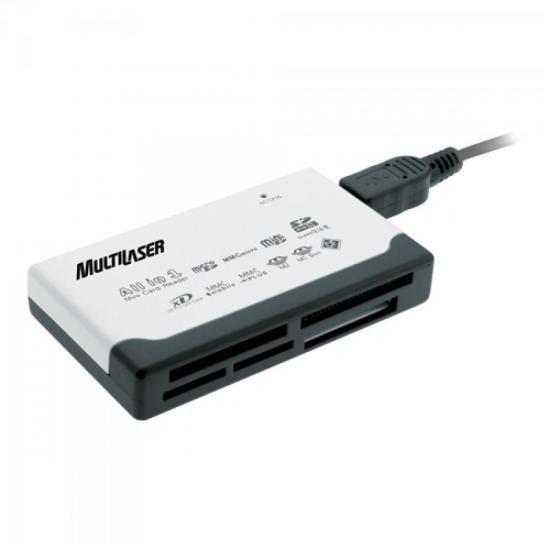 Leitor de Cartao de Memoria Universal  USB 46 em 1 AC076 * Multilaser
