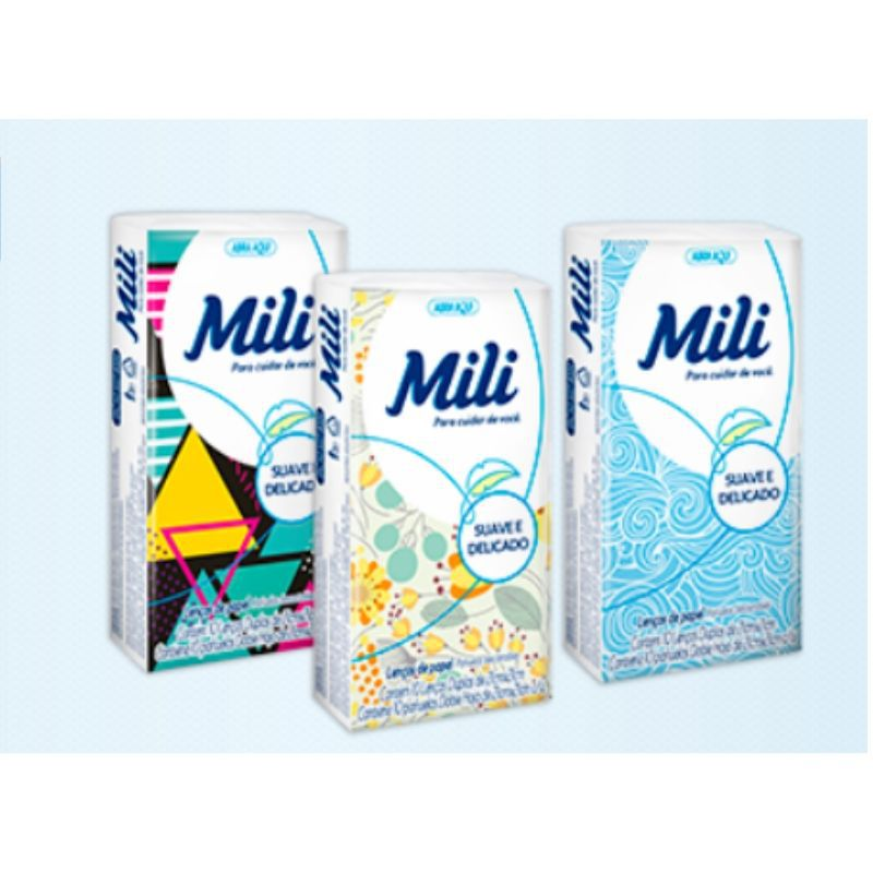 Lenço de bolso Descartável Papel Mili- 17 Pacotes C/10 Unid.(total: 170)