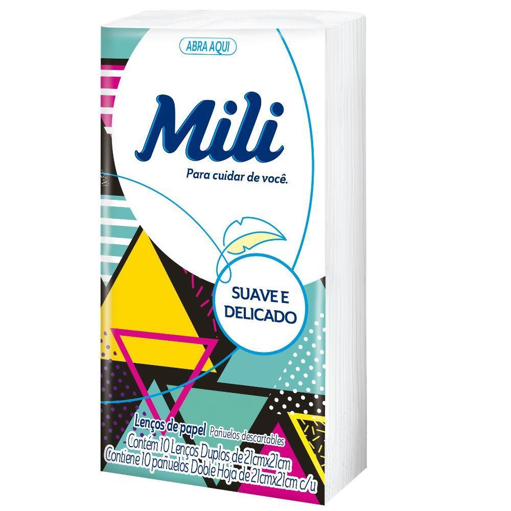 Lenço Descartável Papel Mili- 54 Pacotes C/10 Un.(total:540 lenços)