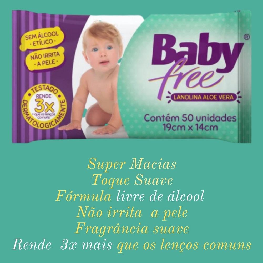 Lenço Umedecido Baby Free 24 Pacotes c/ 50 un.(=1200 lenços)
