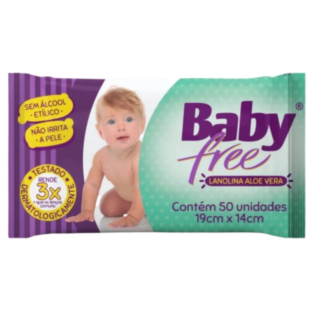 Lenço Umedecido Baby Free 4 Pacotes c/50 unidades(total:200)