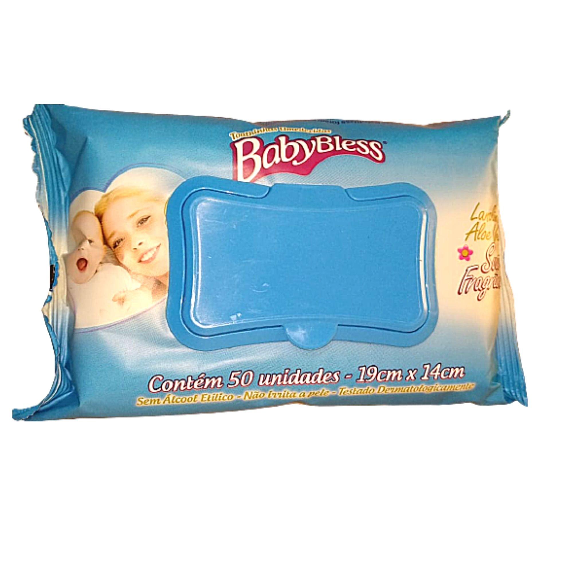 Lenço Umedecido BabyBless 1 Pacote com 50 unidades Super macias e espessas