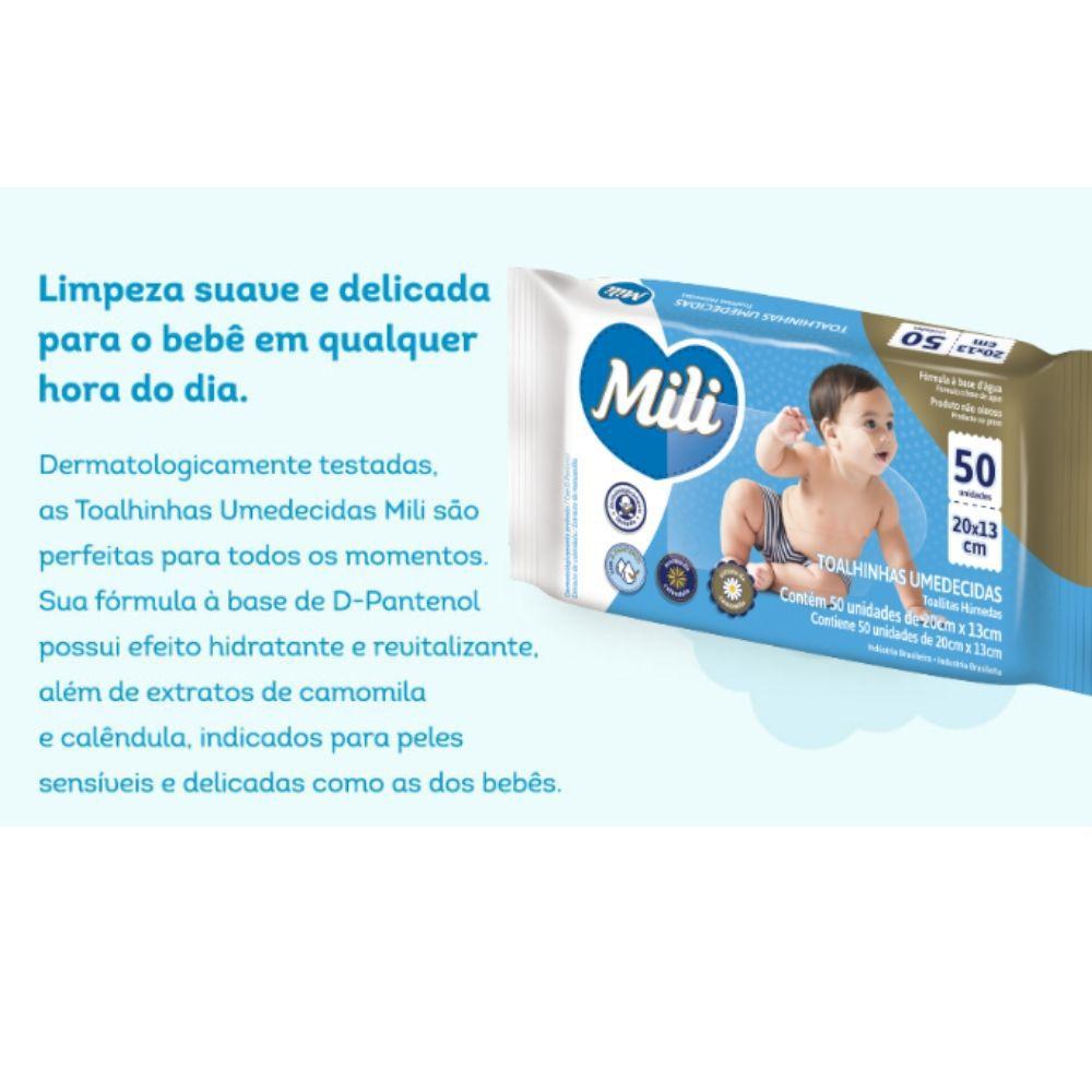 Lenço Umedecido / Toalha Umedecida Bebe - 24 Pacotes com 50 Unidades Cada