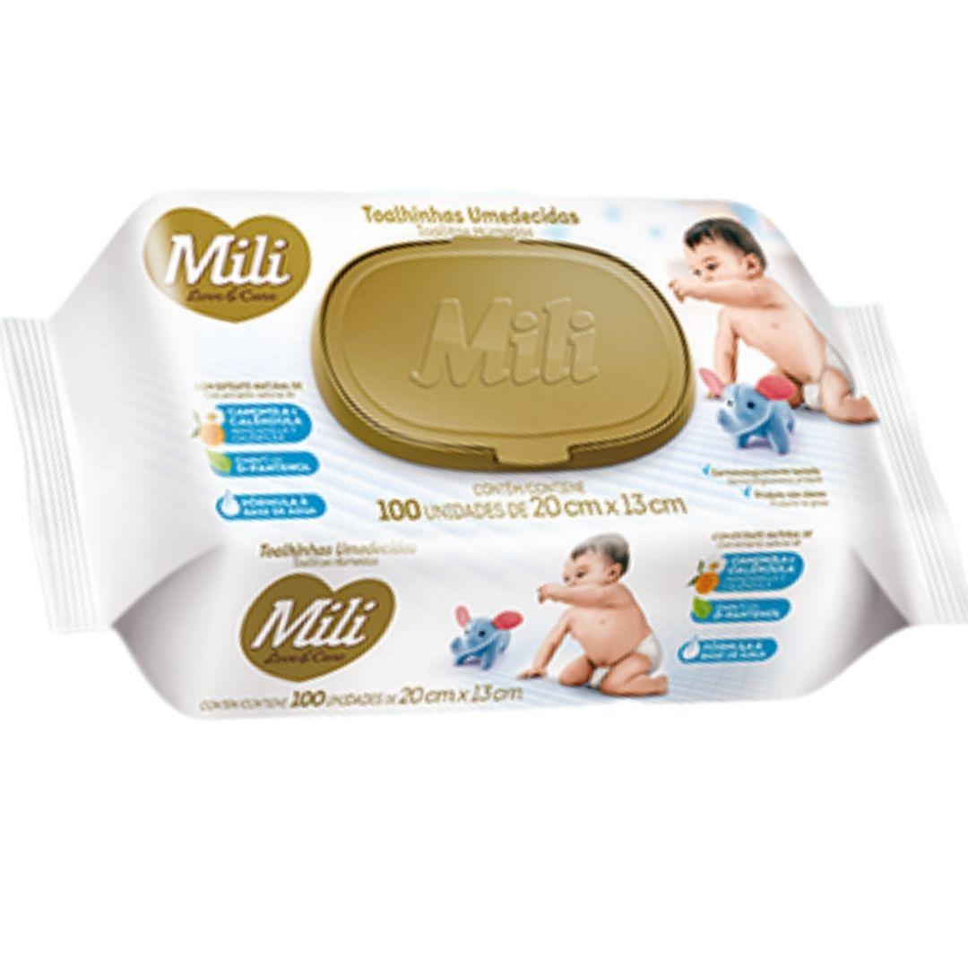 Lenço Umedecido (Toalhinhas Umedecidas)  Mili Love & Care    12 Pacotes com 100 unidades (total: 1200)