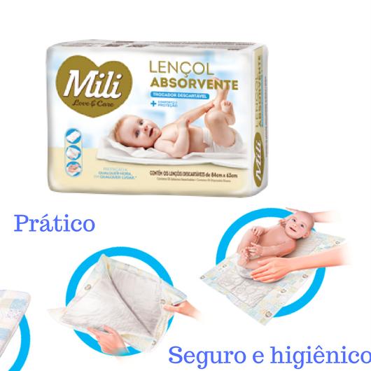 Lençol Absorvente Descartável Mili (trocador) - 4 Pacotes (20 lencois)