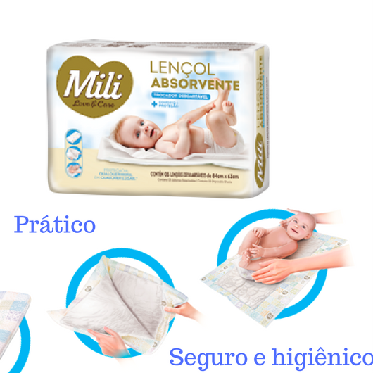 Trocador descartável Mili Love Care - 6 Pacotes c/5
