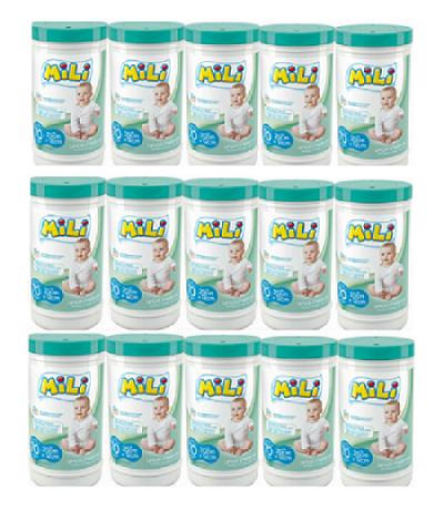 Lencos Umedecidos - Mili - 15 Potes  (total: 1050)