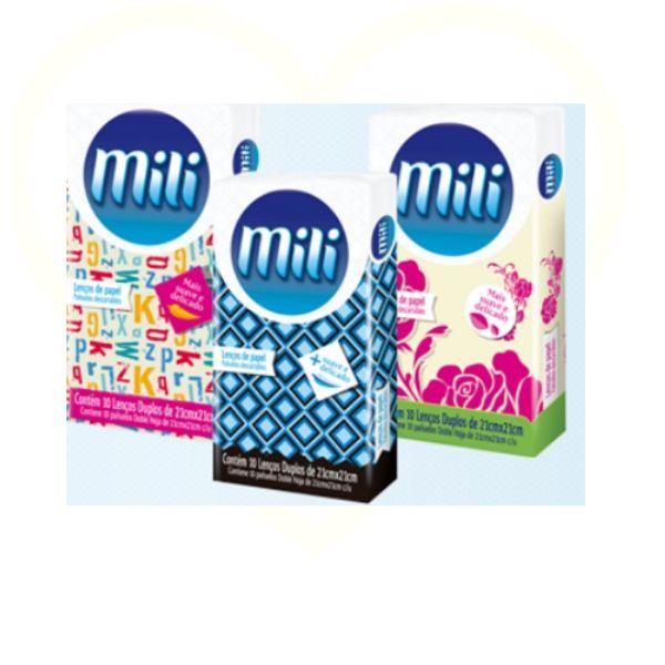 Lenço Descartável Papel Mili- 17 Pacotes C/10 Unid.(total: 170)