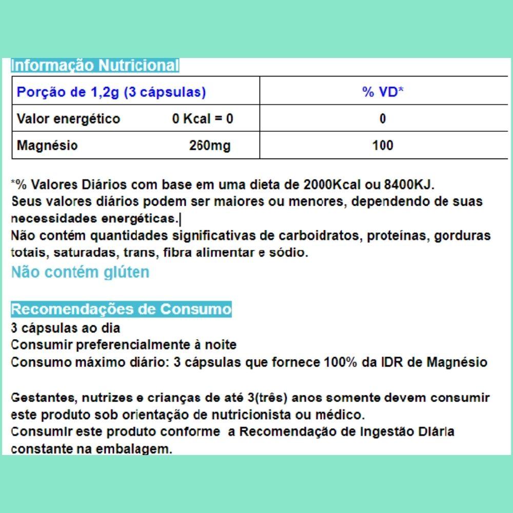 Magnésio Quelato  60 Cápsulas de 400mg  CHAMEL - 3 Frascos