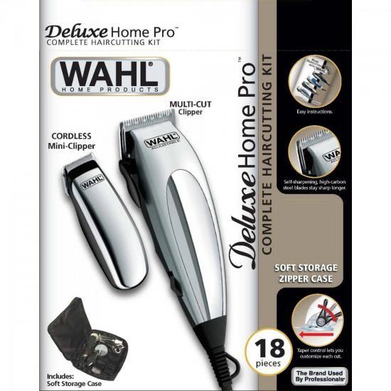 Maquina de Corte 220V Deluxe Home PRO Prata WAHL