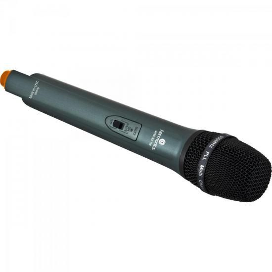 Microfone sem Fio Duplo UHF WPM-301TW Preto Harmonics
