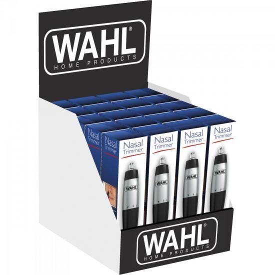 Mini Aparador de Pelos Faciais a Pilha Nasal Trimmer PRETO/CINZA WAHL