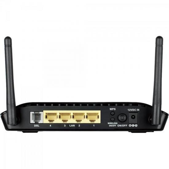 Modem Roteador Wireless 300MBPS DSL-2740E Preto D-LINK