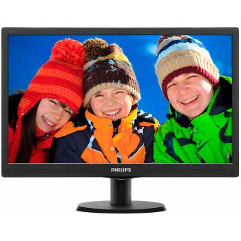 Monitor Philips LED 18.5 Polegadas Wide Vesa 193V5LSB2 - 193V5LSB2