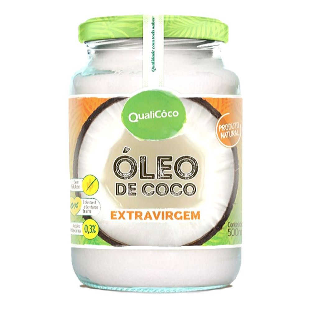 Oleo de Coco EXTRA Virgem 500 ML- Qualicoco