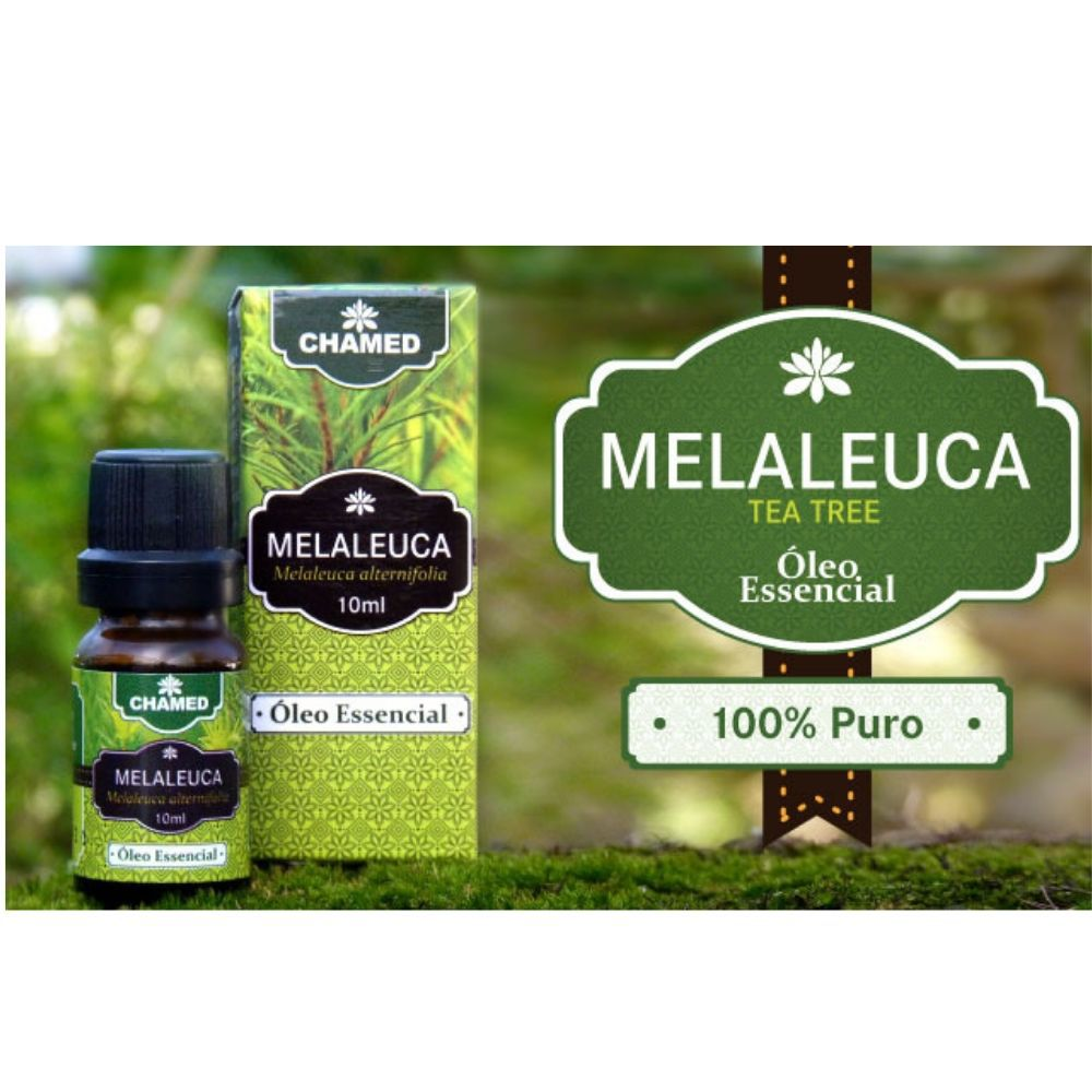 Óleo Essencial de Melaleuca   Tea Tree  10ml    CHAMEL  100% Puro    2 Frascos