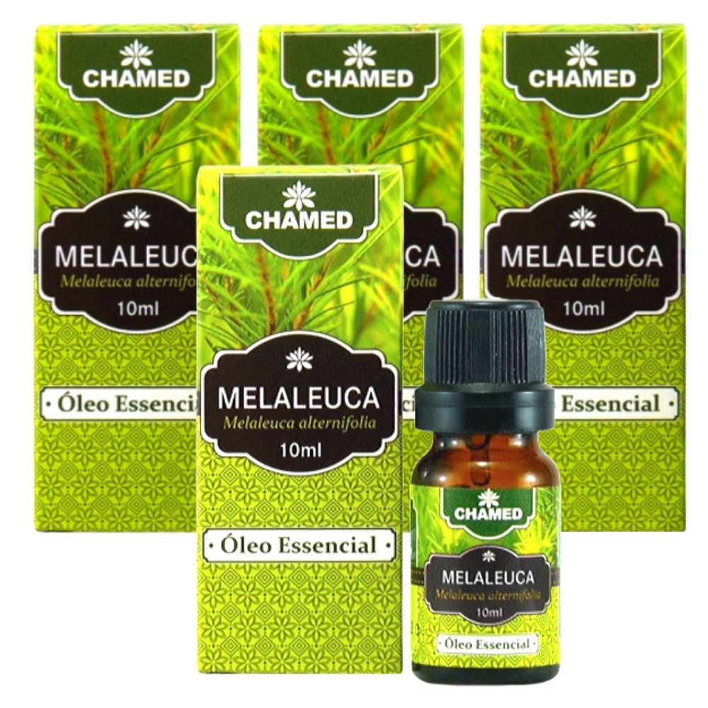 Óleo Essencial de Melaleuca   Tea Tree  10ml    CHAMEL  100% Puro   4 Frascos
