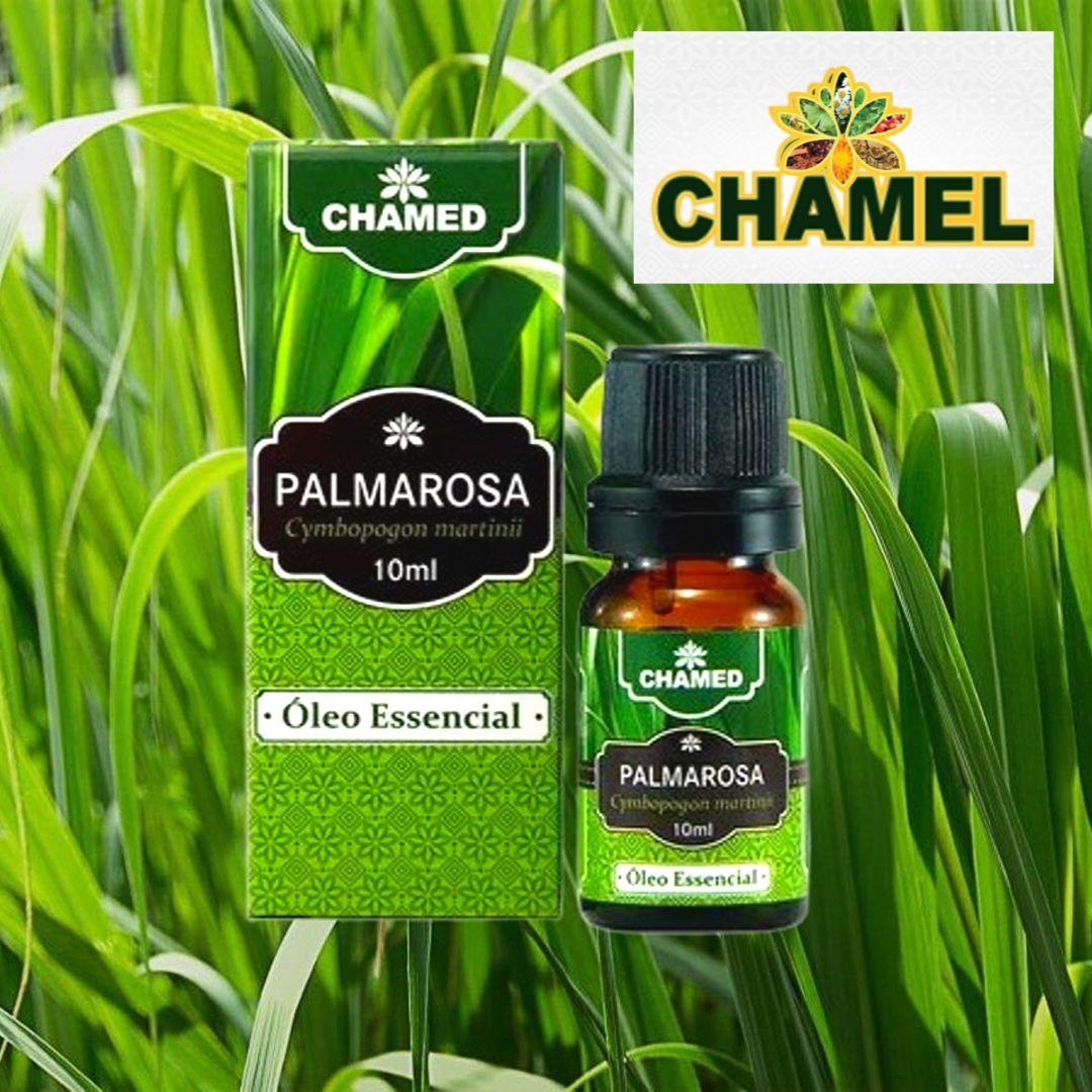 Óleo Essencial de Palmarosa 10ml  100% Puro  Chamel - 2 Frascos