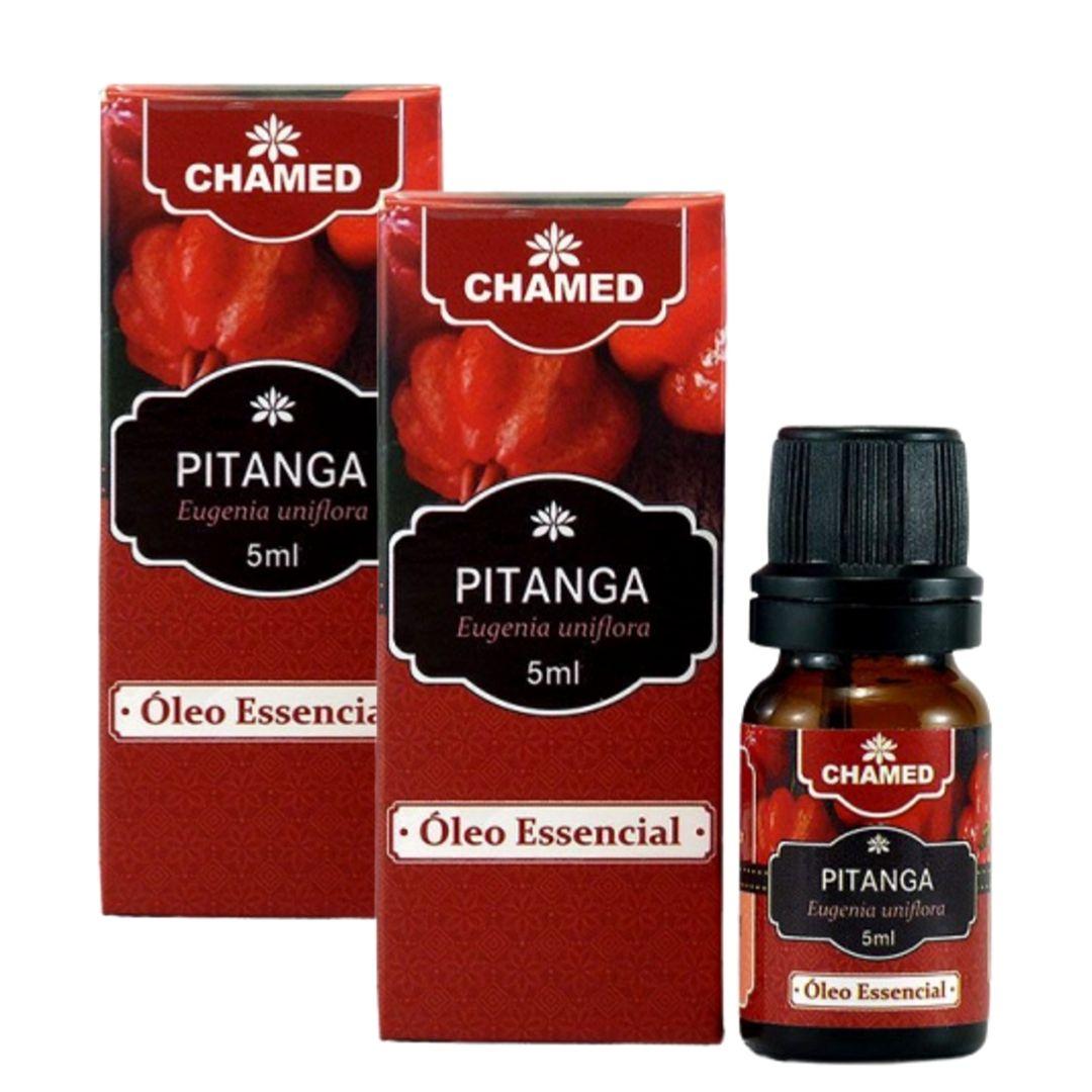 Óleo Essencial de Pitanga 5ml  100% Puro  Chamed - Kit de 2  Frascos (fabricante: Chamel)