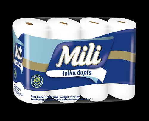 Papel Higienico Dual Slim 30m- Folha Dupla - 8