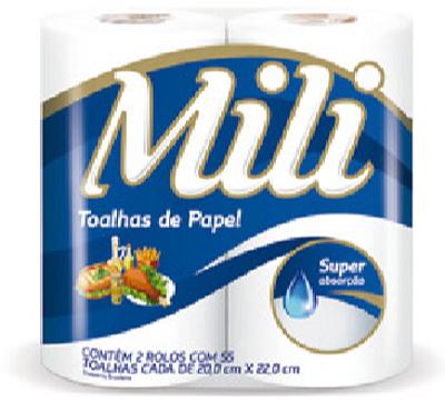Papel Toalha Mili 55 Folhas (Toalhas de Papel)