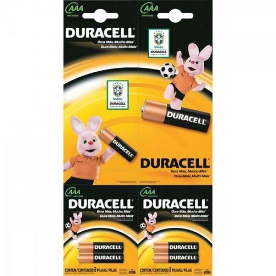 Pilha Alcalina AAA Palito Embalagem com 2 MN2400 Duracell