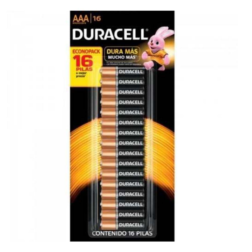 Pilha Alcalina Pequena com 16 UNID. AAA * Duracell
