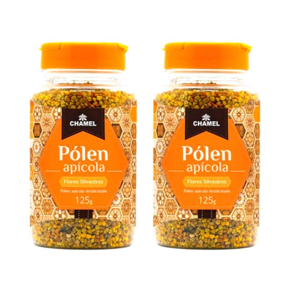 Pólen Apícola Desidratado  100% Puro  125g  Chamel - 2 frascos