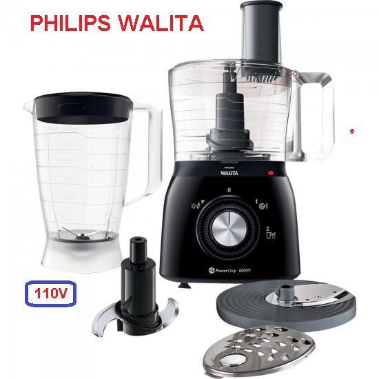 Processador de Alimentos com Liquidificador RI7630/91 110V Preto Philips Walita