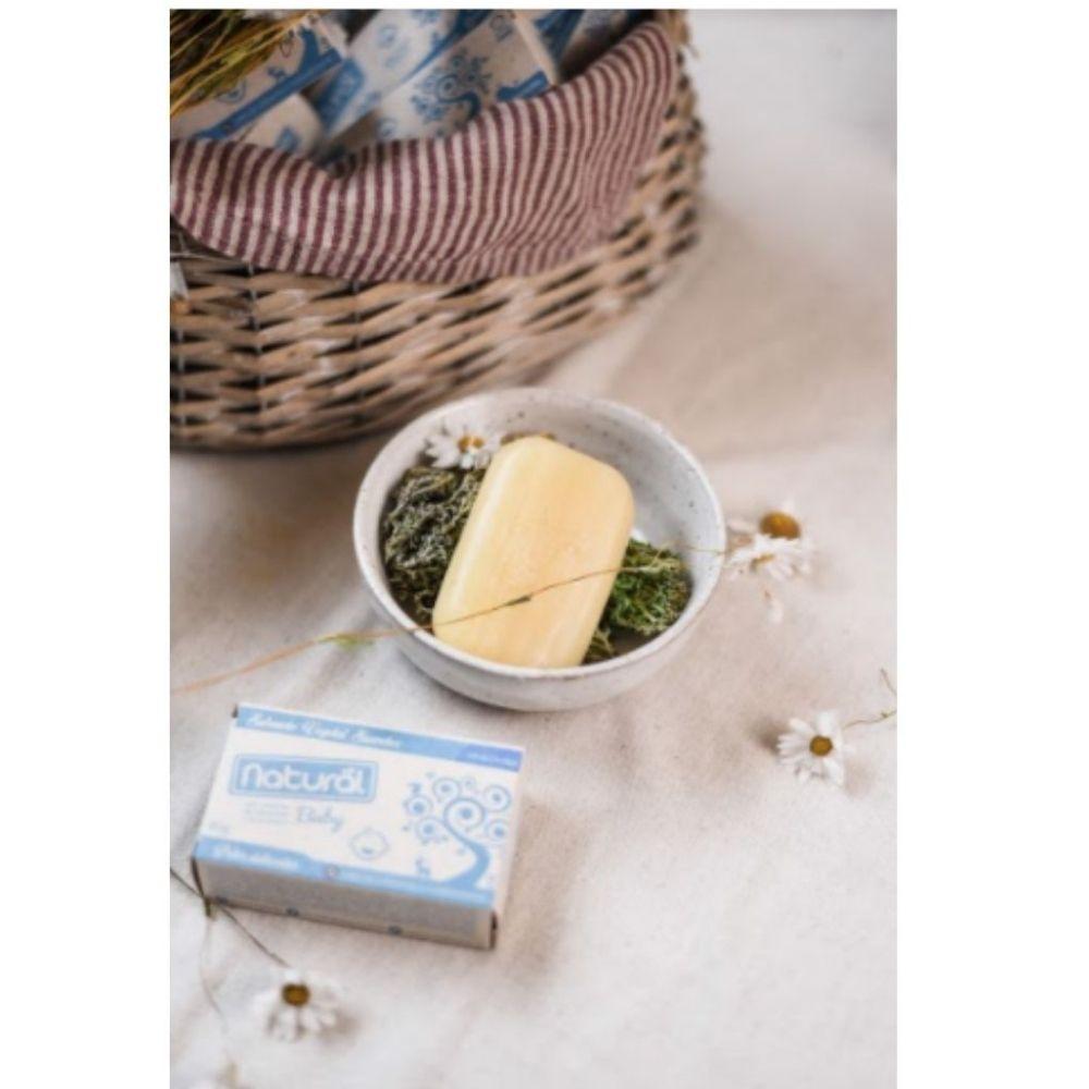 Sabonete Vegano Natural Suavetex Baby c/ extratos de camomila e erva cidreira 80g-   6 unidades
